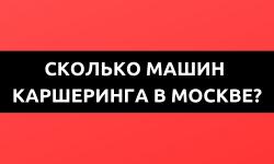 Московский каршеринг: у кого сколько