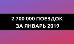 Московский каршеринг: 2,7 млн поездок за январь