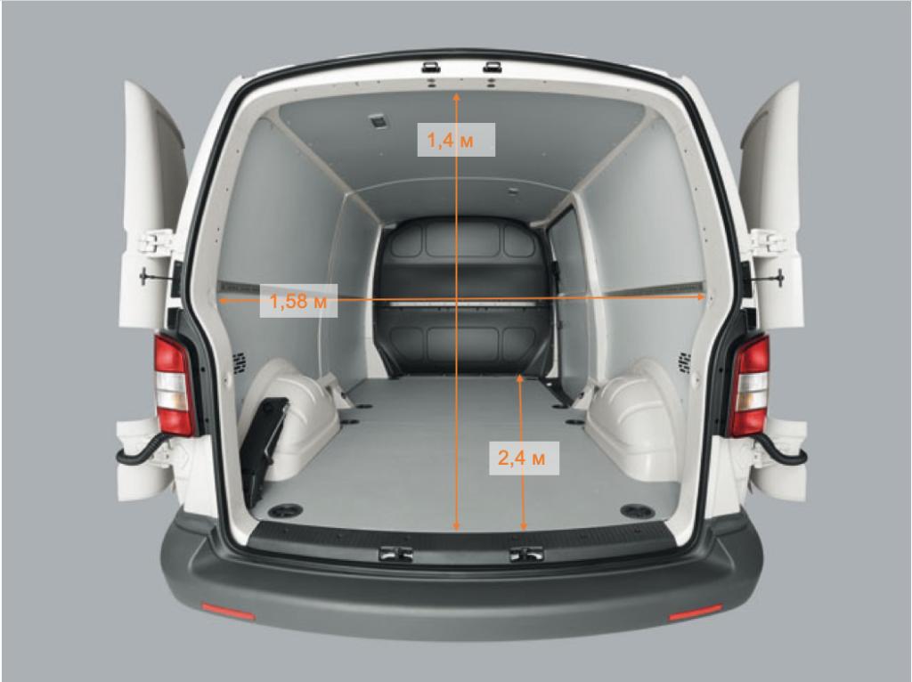 размеры багажника транспортер